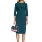 Ołówkowa sukienka midi z narzutką - zielona