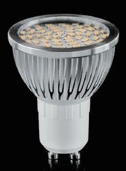 Żarówka 54 LED SMD3014 GU10 biała ciepła 5,5W - 540lm- LE