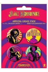 Jimi hendrix purple haze - zestaw 4 przypinek