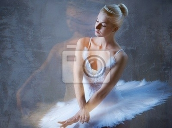 Fototapeta piękna tancerka baletowa