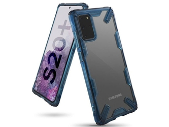 Etui na telefon ringke fusion x do samsung galaxy s20 plus space blue - niebieski