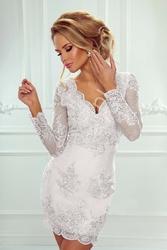 Sukienka ślubna koronkowa z długim rękawem - diana