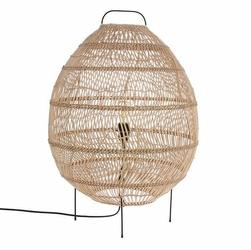 HK Living :: Lampa podłogowa w kształcie jaja wiklinowa - 50x50x72