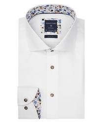 Biała koszula profuomo z wstawkami slim fit 38