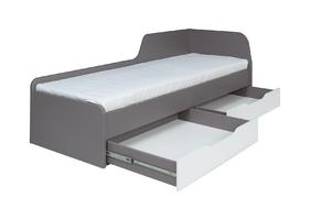 Łóżko z szufladami dona 80x200 cm popiel