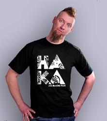 Haka rugby t-shirt męski czarny xxl