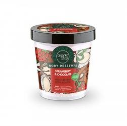 Mus do ciała nawilżający truskawka i czekolada 450 ml organic shop