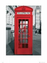 London Telephone Box - reprodukcja