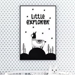 Little explorer - plakat dla dzieci , wymiary - 70cm x 100cm, kolor ramki - czarny