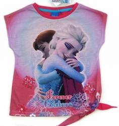 Koszulka frozen forever sisters różowa