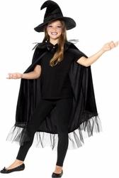 Strój czarownicy czarna peleryna przebranie