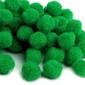 Pompony dekoracyjne 10 mm 100szt. - zielone - zielony