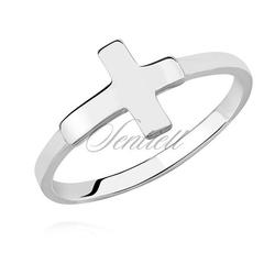 Srebrny pierścionek pr.925 krzyżyk