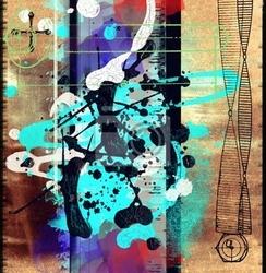 Obraz streszczenie grunge collage, ładne tło dla swoich projektów