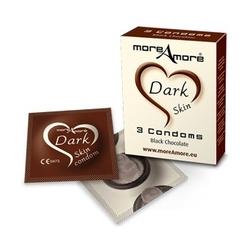 Sexshop - ciemne prezerwatyw condom dark skin - czekoladowe 100 sztuk - online