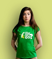 How low can you go t-shirt damski zielony xxl