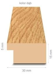 Dębowa rama 40x40 cm
