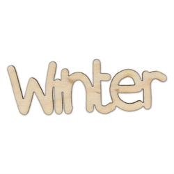 Drewniany napis WINTER 7 cm - winter