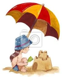 Naklejka zamek z piasku