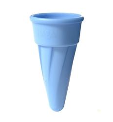 Rożek do lodów, haba - niebieski