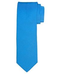 Niebieski jedwabny krawat profuomo