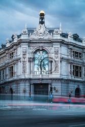 Obraz bank of spain stary budynek
