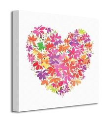 Floral heart - obraz na płótnie