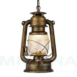 Hurricane lampa wisząca 1 czarno-złoty szkło