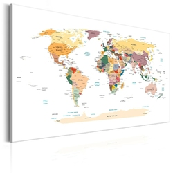 Obraz - mapa świata: podróże przez świat