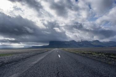 Fototapeta na ścianę droga z pochmurnym niebem fp 3830
