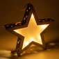 Drewniana gwiazda 3d 10 led ciepły biały 35 cm gwiazdkowa ozdoba