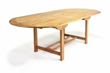 Stół owalny - drewniany stolik rozkładany - 170230 cm