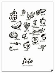 Plakat Lato - Jedz Sezonowo 21 x 30 cm