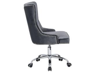 Tapicerowane krzesło biurowe victorian szare