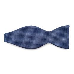 Niebieska mucha jedwabna wiązana VAN THORN- prosty splot