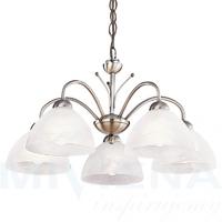 Milanese lampa wisząca 5 patyna szkło