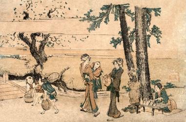 Group of Figures near a Brook Wymiar do wyboru: 29,7x21 cm