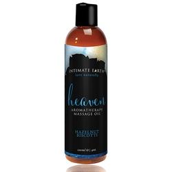 Olejek do masażu - intimate earth massage oil heaven hazelnut biscotti 120ml