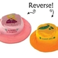 Dwustronny kapelusz flapjack - s - księżniczka  groszek