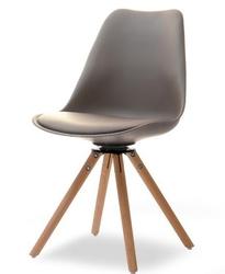 Krzesło obrotowe do jadalni Gustaf brązowebuk