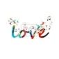 Naklejka kolorowe tło wektor z kolibry miłość