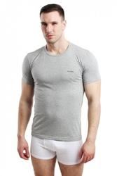Koszulka męska rneck szara pierre cardin