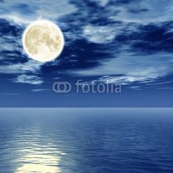 Plakat na papierze fotorealistycznym noc blue moon