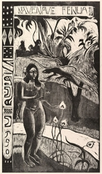 Delightful land, paul gauguin - plakat wymiar do wyboru: 70x100 cm