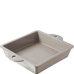 Kwadratowa forma porcelanowa do ciasta Revol Les Naturales szara RV-648424-1