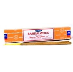 Kadzidła sandalwood drzewo sandałowe, 14 patyczków + gratis w środku, 15g satya bombaj