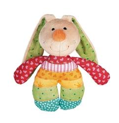 Przytulanka z grzechotką sigikid - królik rainbow