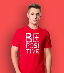 Be positive t-shirt męski czerwony xl