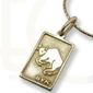 Znak zodiaku z żółtego złota, pr.585