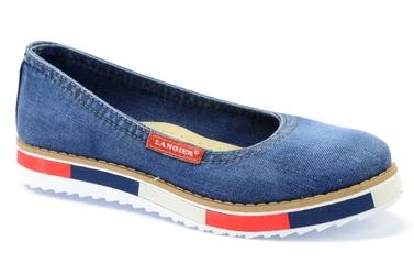 Baleriny  lanqier 40c208 jeans